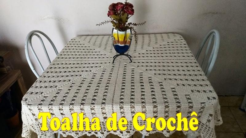 Toalha de Crochê Tamanho 1.30x1.30