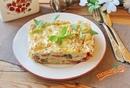 «Рваный» пирог с сыром и оливками