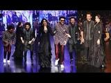 Janhvi Kapoor Ramp Walk with Anil Kapoor and Ranveer Singh at Lakme Fashion Week 2019