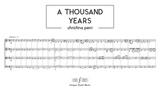 A Thousand Years - Christina Perri String Quartet Sheet Music