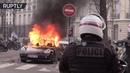 Porsche Ferrari vandalized, set ablaze during Yellow Vest protests in Paris