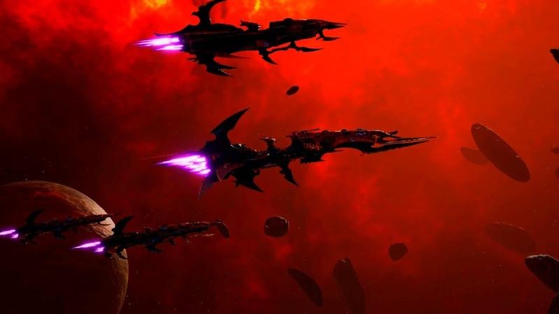 Dark Eldar (Drukhari) vs Tyranids! - Open Beta, Battlefleet Gothic Armada 2