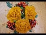Мастер класс | Розы из бисера | Рыжая весна