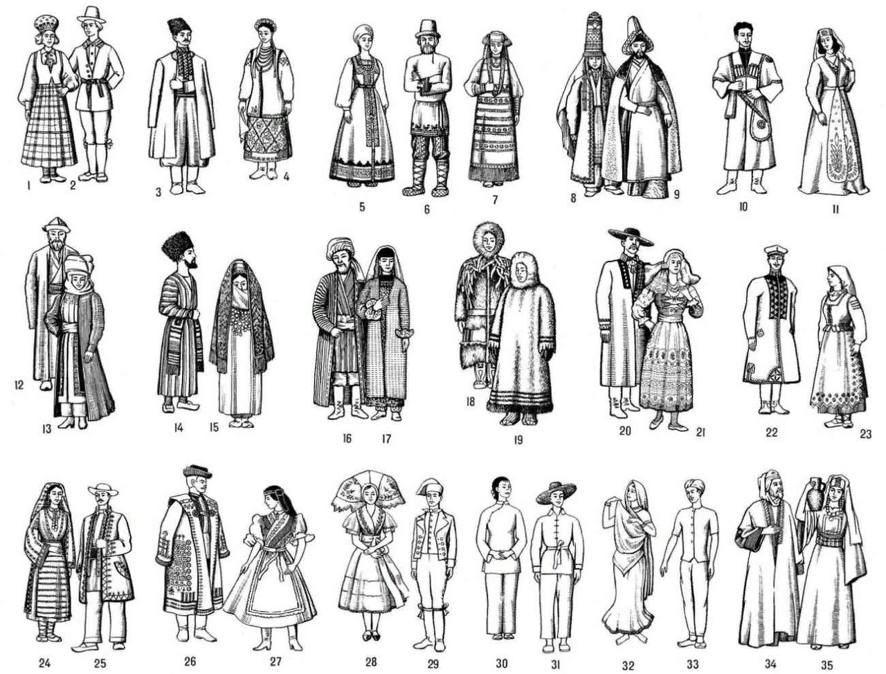 Рыбацкие, национальные костюмы народов ссср картинки с названиями