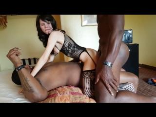 Double penetration interracial stockings
