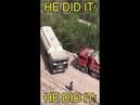 TRUCK DRIVER'S TERRIFYING U TURN