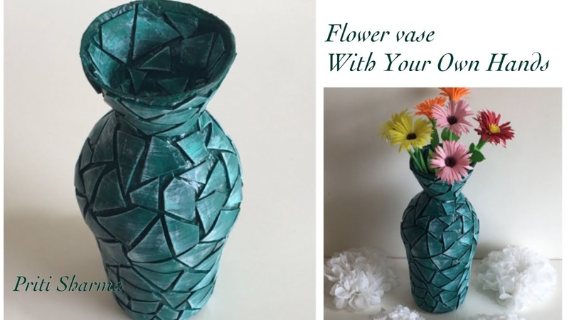 Best Out Of Waste Plastic Container Flower Vase 7 Plastic Bottle And Balloon Craft Priti Sharma