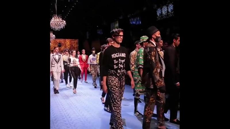 The DolceGabbana Spring Summer 2019 Men's Fashion Show.