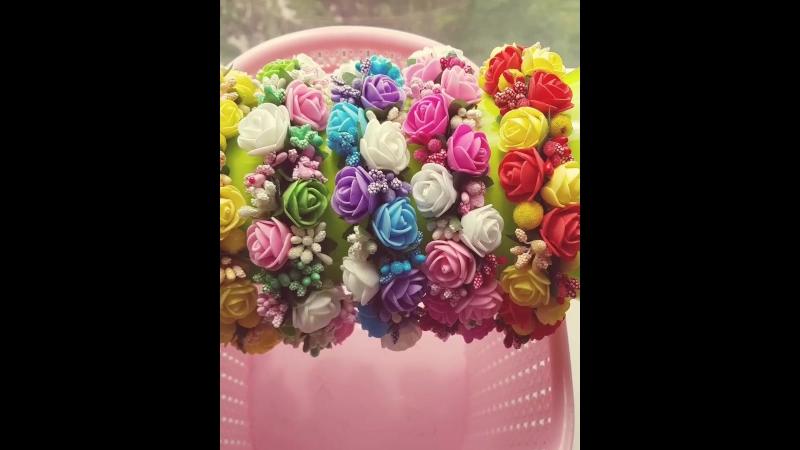 Ободки с цветами из фоамирана, сахарных ягод и тычинок 🌹🌹🌹  Цена: 200-400 рублей