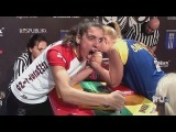 Worlds Dumbest - Arm Wrestling Drives Woman Insane
