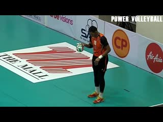 224 cm tallest player in volleyball history - wutthichai suksala (hd)