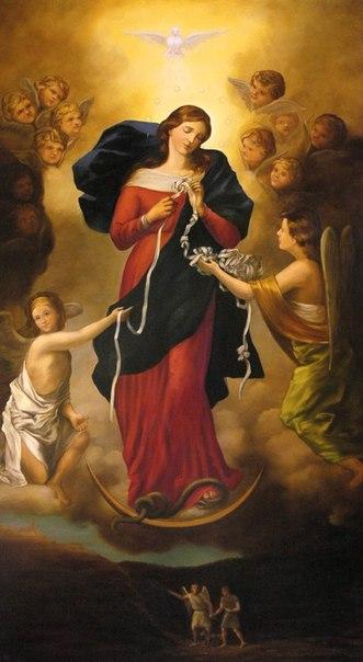 Копія чудотворної ікони Богородиці, що розв'язує вузли, у нас на парафії