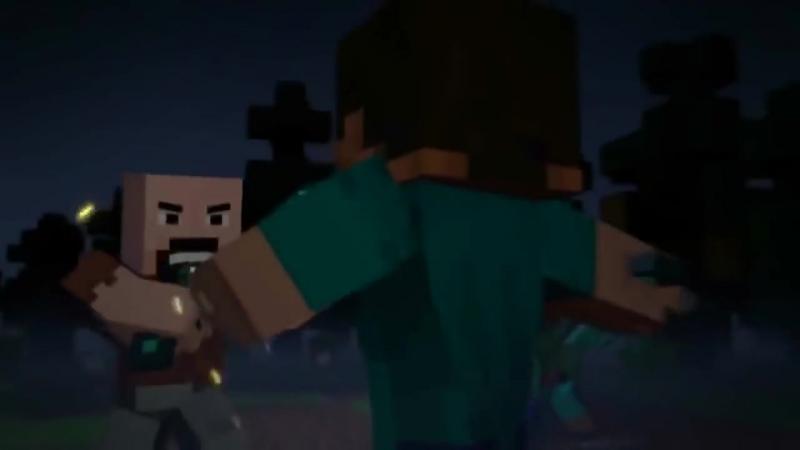 Minecraft Мультики НОТЧ ПРОТИВ ХЕРОБРИН Мульт Анимация