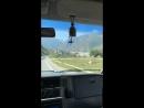 Дорога в горы через Баксанское ущелье