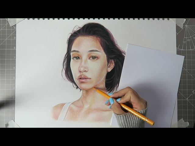 COLOURING TUTORIAL TIMELAPSE🌈 Faber Castell Polychromos Pencils (24 Set)