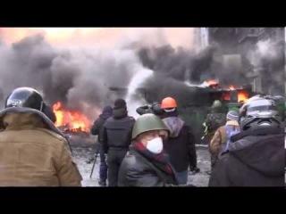 Грушевского, Киев, Новая катапульта / Hrushevskiy str. Kiev, 9-00 AM 23.01.14