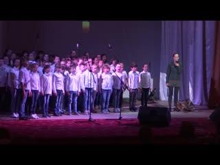 Юлия Чичерина и сводный хор детских школ искусств Перевальского района