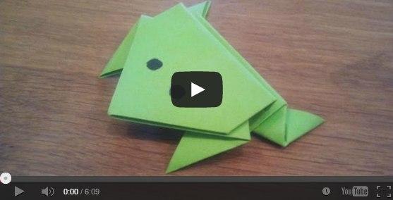 Как сделать лягушку из бумаги: