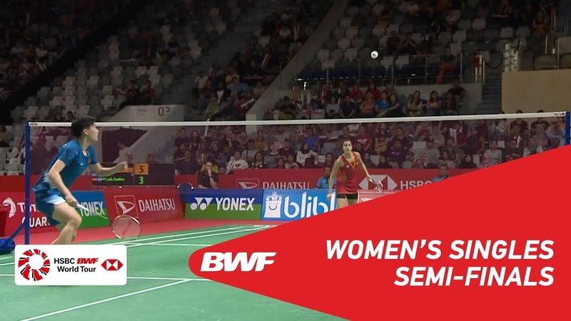 SF | WS | CHEN Yufei (CHN) [3] vs Carolina MARIN (ESP) [5] | BWF 2019