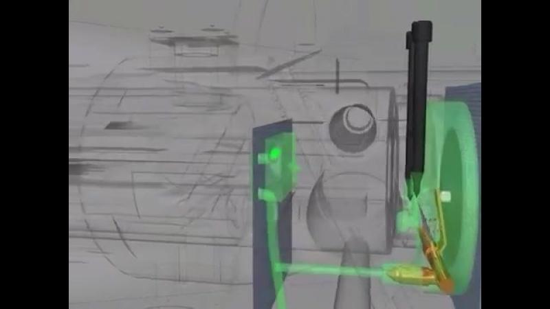 3D Бескривошипный_бесшатунный_двигатель