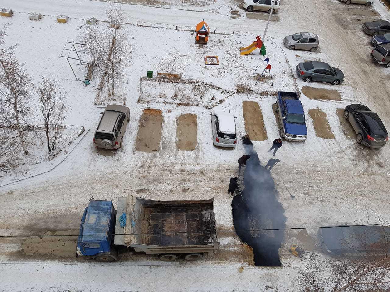 Мэр Якутска разобралась в ситуации с укладкой асфальта на снег