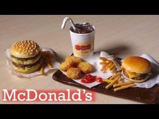 Еда из McDonald's из полимерной глины!