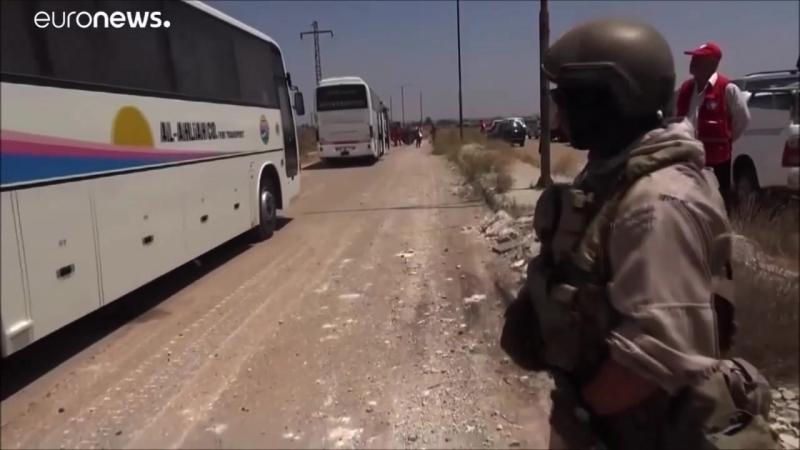 Συρία 20 7 2018 Παράδοση του εξοπλισμού των ισλαμιστών της Κουνέιτρα στον στρατό του Άσαντ