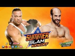 WWE 2K14 Rob Van Dam vs Cesaro (Singles Match) SummerSlam KickOff 2014
