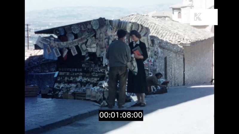 Assisi in 1956, Italy 16mm Home Movies