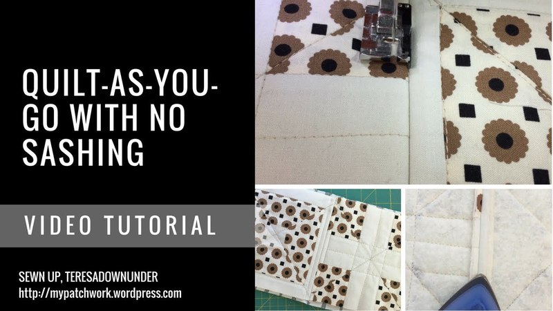 Video tutorial Quilt-As-You-Go with no sashing - easy quilting