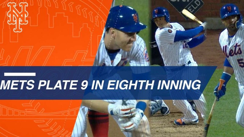 Frazier Lagares Cespedes key in huge rally for Mets