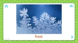 Frost - Weather And Seasons - Flashcards for Kids