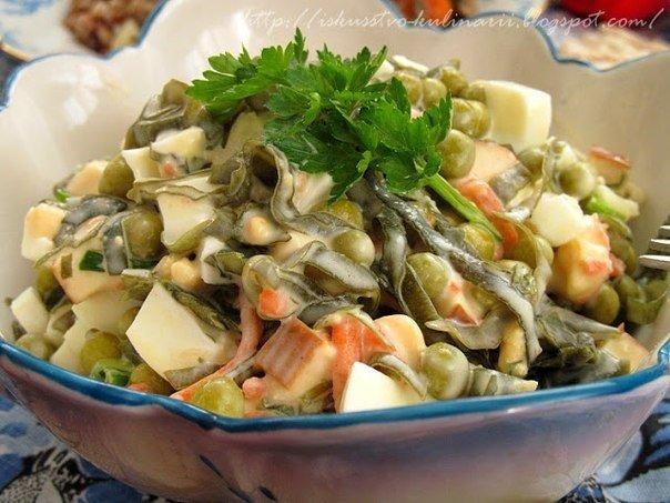 Салат с морской капустой (очень вкусный!) Обалденно вкусный