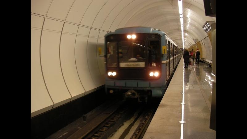 81-717/714 Станция Окружная / Головные вагоны 10034(1-4-1) и 10197(2-2-2)
