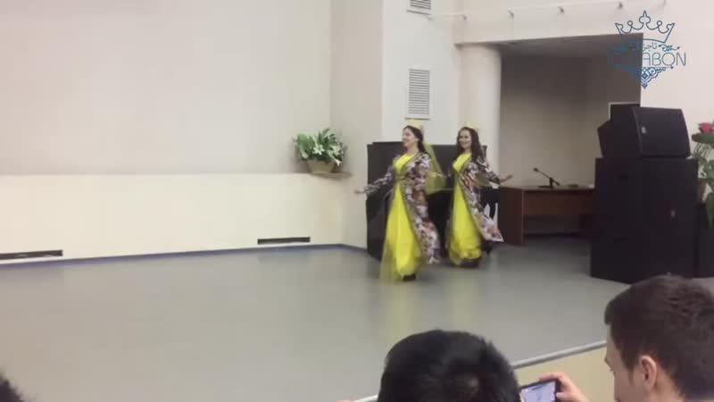 Таджикский национальный танец в исполнении студенток из РУДН. Землячество РУДН. Навруз 2017