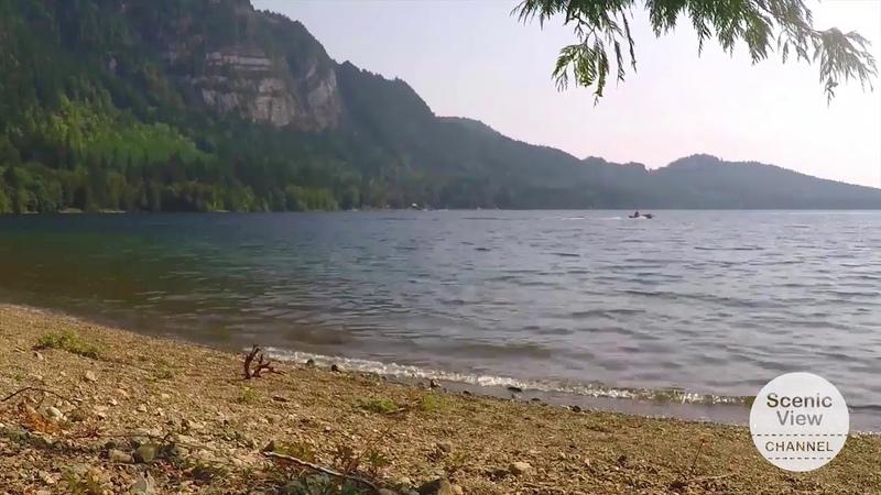 Promo Mountain lake, Paddle board and Boats
