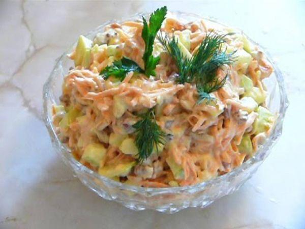 Салат лисичка рецепт с фото