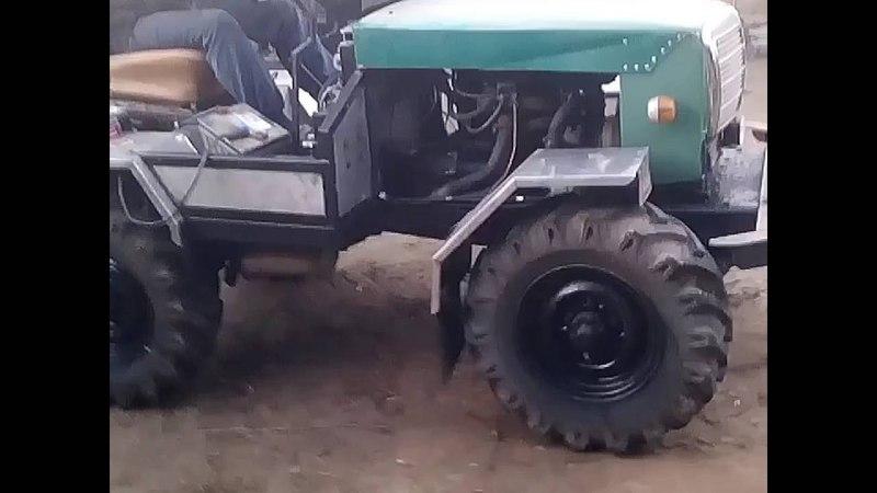 Когда у папы золотые руки)Супер видео!Чудо-трактор!