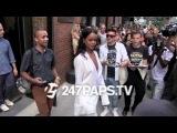Рианна покидает модное шоу Edun в Нью-Йорке.