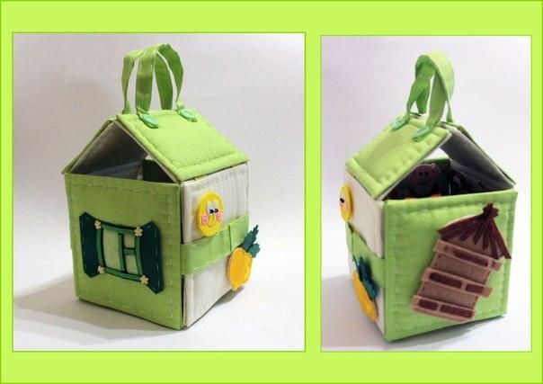 Домик-развивайка из фетра. Идея для вдохновения…. (5 фото) - картинка