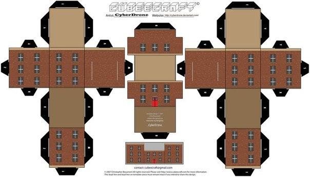 Ideas para el hogar casas para descargar imprimir for Muebles de oficina para armar
