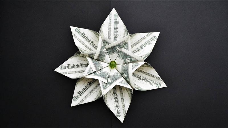 EASY Money FLOWER | I like it! | Origami Dollar Tutorial DIY