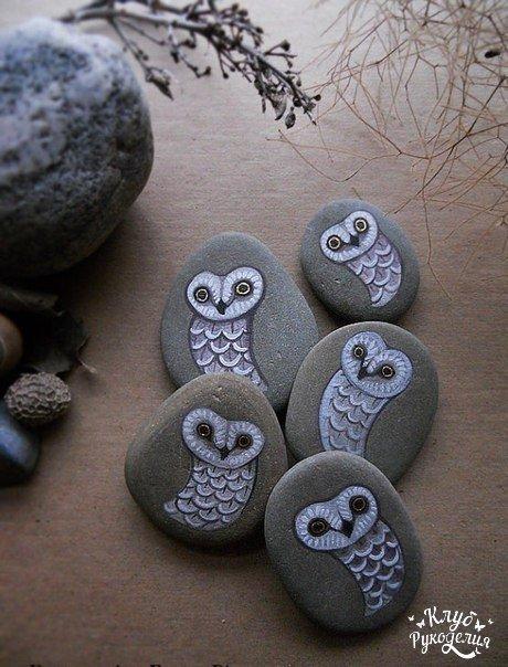 Расписные камушки. Идея для творчества…. (8 фото) - картинка