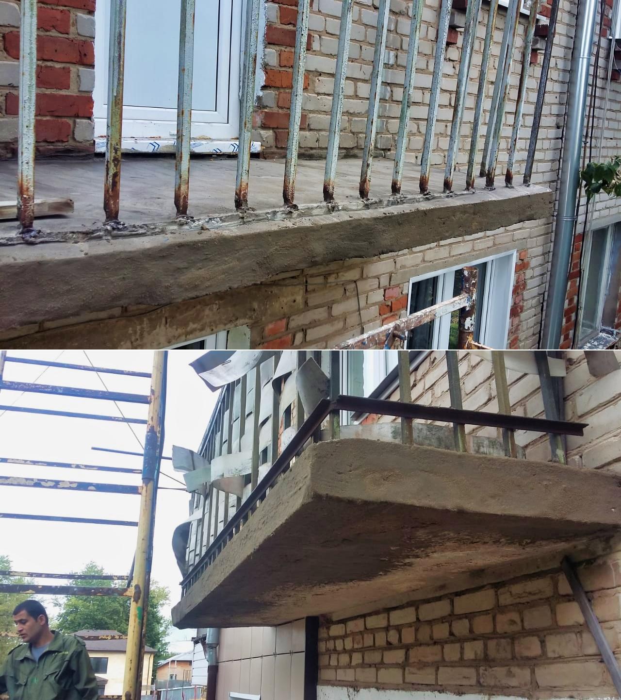 Ремонтируем балконные плиты и козырьки над подъездами