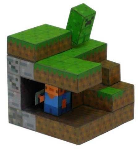 Бумажный minecraft (схемы) в
