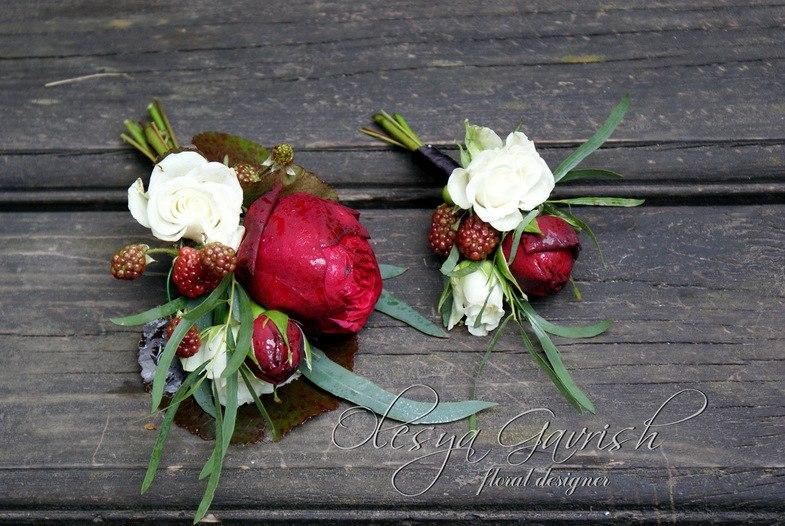 Свадебный букет пионы гортензия