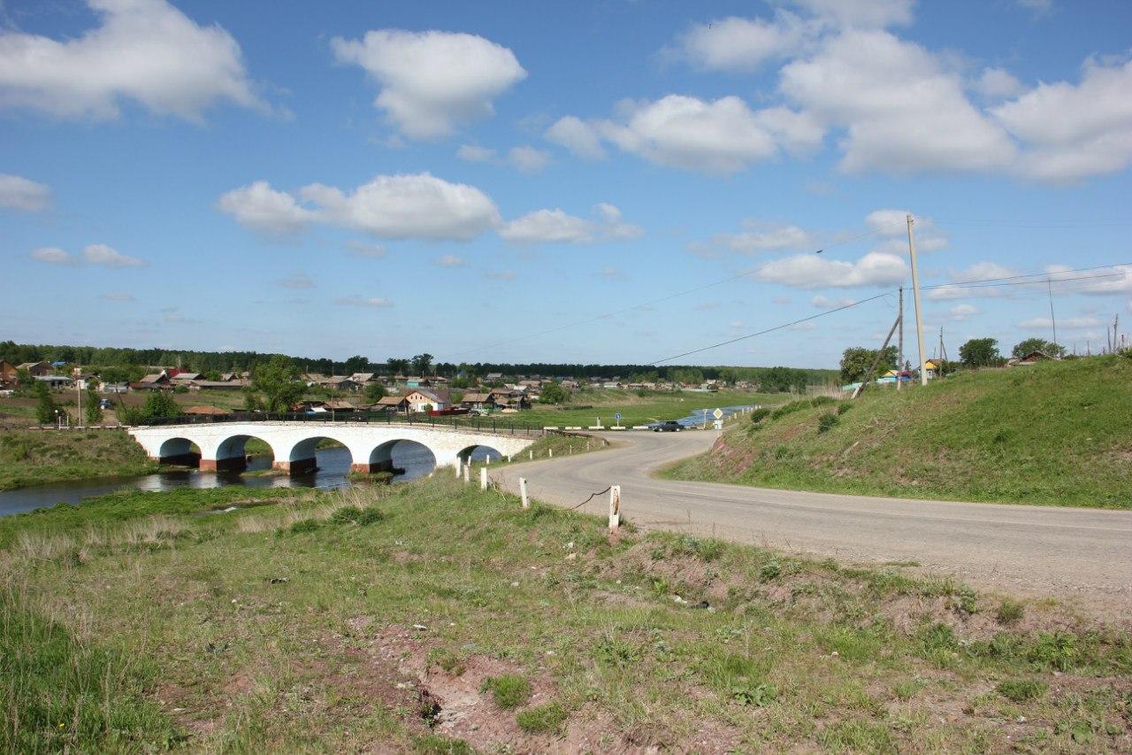 Вид на мост с пригорка (04.07.2014)