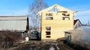 Строительство Дома 6х6 - часть 2. Профилированный брус 150х180. Вальмовая крыша.