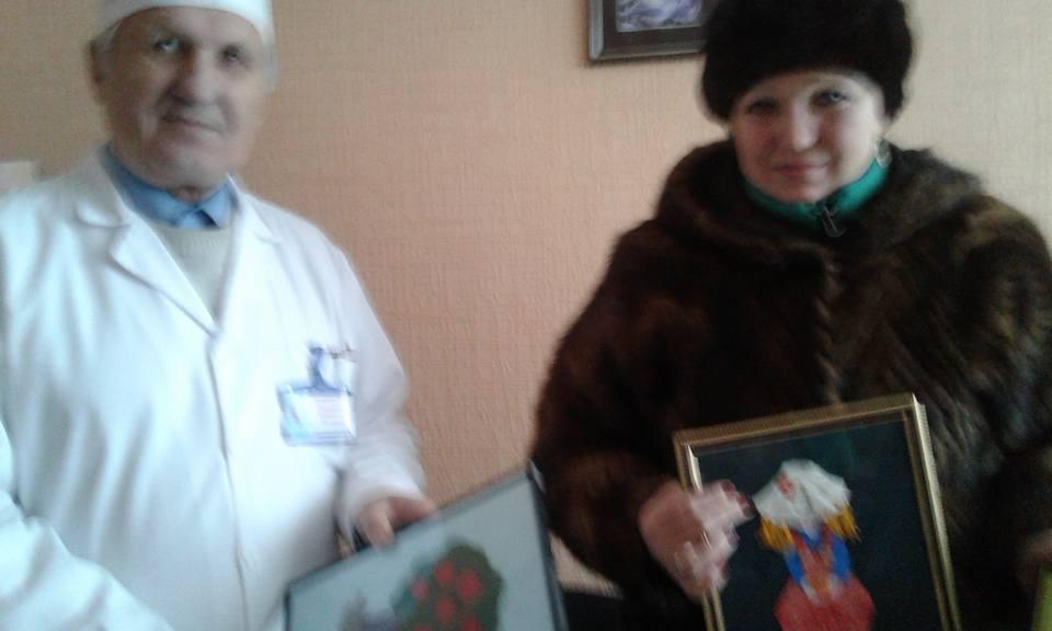 Подарунки Черняхівській лікарні