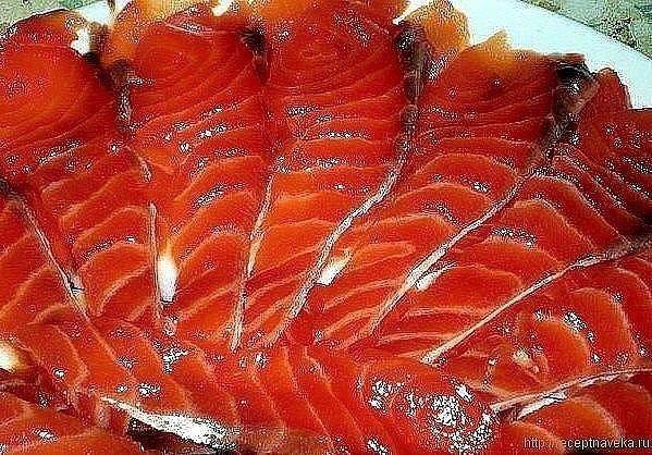красная рыба быстрого посола за 20 минут